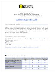 Carta De Recomendación Académica Para Aplicar A Una Maestría