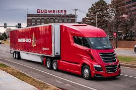 100 Simi Trucks Budweiser Brewer Makes First Beer Delivery With Nikola Semi