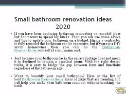 Remodeling Small Bathroom Ideas And Tips For You Small Bathroom Renovation Ideas 2020 2021