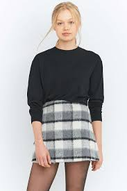 fluffy checked a line mini skirt mini skirts urban outfitters