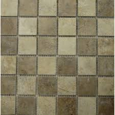 style selections mesa mixed rust and beige glazed porcelain mosaic
