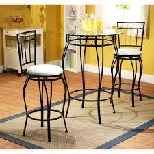 3 Piece Kitchen Table Set Walmart by Gabriella 3 Piece Pub Set Metal And White Furniture Walmart