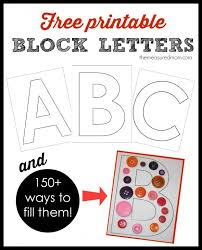 Get This FREE Complete Set Of Large Printable Block Letters For Learning The Alphabet Plus