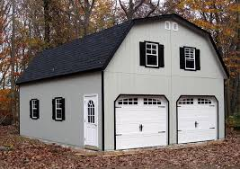 24x30 2 car garage with gambrel barn style roof Built by Horizon