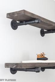 Detail Industrial Pipe Shelves In The Nursery