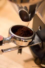 Dose Fine Coffee Into Portafilter Weigh Espresso Shot Distribute Ground