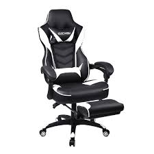 Gaming Chair For Adults With FootrestHigh Back Swivel Computer Office Chair With Pillows And Lumber Support BlackWhite Dowinx Gaming Chair Ergonomic Racing Style Recliner With Massage Lumbar Support Office Armchair For Computer Pu Leather Esports Gamer Chairs Dansitwell Adults Adjustable Footrest High Back Headrest And Blue Black Green Footresthigh Swivel Pillows Lumber Pc Desk Executive Modern Task Rolling Red The Cheapest On Amazon 2019 Worth It Xrocker Extreme Iii 20 Rocker X 5109201 Audio System Blackgrey Quersus Chair Vaos 502 Office Pink Elecwish Widen Thicken Seat Retractable