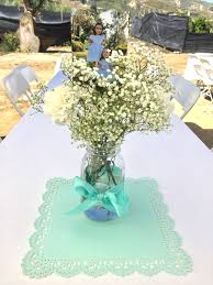 Baptism Decoration Ideas For Twins by Simple Baptism Centerpieces Or For Any Occasion Mason Jar Bow