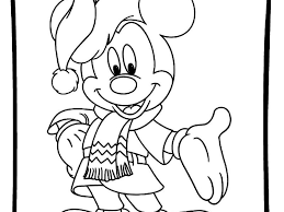 Baby Mickey Mouse Christmas Coloring Pages