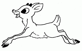 Rudolph The Red Nosed Reindeer Printable Coloring Pages