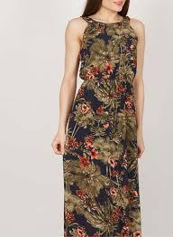 tenki navy tropical print maxi dress dorothy perkins united states