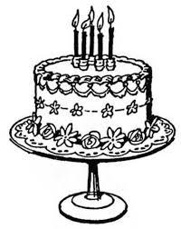 Vintage clipart birthday cake 1