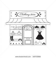 Clothing Store Clipart Black And White Within