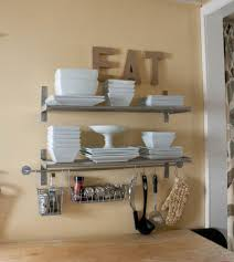 More Like Home Kitchen Shelves Grundtal And Bygel Rails Mixed For Open Storage Look