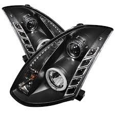 spyder auto infiniti g35 03 07 2dr projector headlights xenon