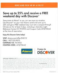 Save 25% And Receive A Free Weekend Day With Alamo And ...