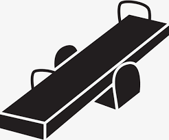 Black And White Seesaw Icons Amusement Park PNG Vector