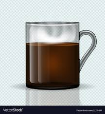 Cup Of Hot Coffee On A Transparent Background Vector Image