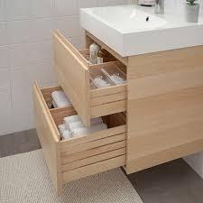 godmorgon bråviken waschbeckenschrank 2 schubl eicheneff wlas brogrund mischbatterie 61x49x68 cm