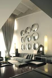 schöne wohnzimmer wandgestaltung mit spiegel wohnzimmer