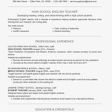 Review A Teacher Resume Example Text Version