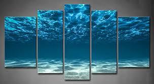 Amazon 5 Panel Wall Art Blue Ocean Bottom View Beneath