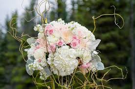 Rustic Floral Centerpiece From A Chic Mountain Wedding On Karas Party Ideas