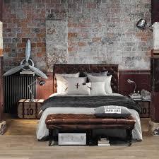 bettfußbänke rustikales schlafzimmer industrie