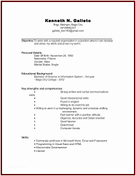 Resume Examples For Students Sample College Student No Experience Of