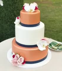 Rose Gold And Navy Fondant