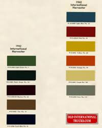100 International Truck Parts 1942 Color Chart Color Charts Old
