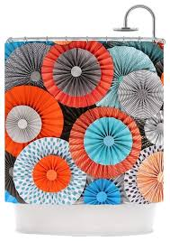 Marvellous Teal And Orange Shower Curtain Gallery Ideas house