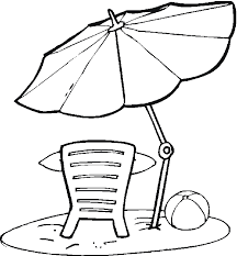 Beach Umbrella Coloring Pages Printable