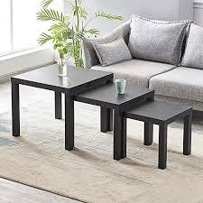 pandaone beistelltische 3 tische für wohnzimmer beistelltisch multifunktional schwarz