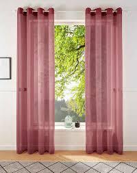 gardine my home ösen 2 stück vorhang fertiggardine transparent