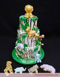Baby Gone Wild Baby Shower Jungle Cake » Custom Baby Shower Cakes