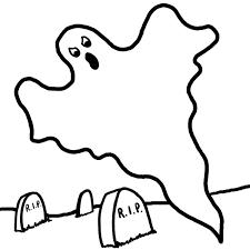 Coloriage Fantôme Sur Un Cimetière Gratuit À Imprimer