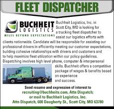 100 Buchheit Trucking Fleet Dispatcher Logistics
