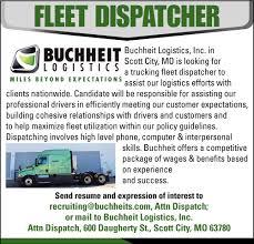 Fleet Dispatcher, Buchheit Logistics
