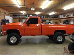 Completely Restored 1982 Orange Chevy Pick Up K20 4x4 1982 Chevy Silverado K10 62 Detoit 100 Years Of Exploring New Possibilities With Chevrolet Trucks S10 Wikipedia Designs Of Truck For Sale Used C10 4x4 At Webe Autos Serving Long Island Ny C10 Short Bed Truck Pickup Ck 10 Overview Cargurus 1986 34 Ton New Interior Paint Solid Texas Questions Whats My Worth Are These Tailights Special Vintage Pickup Searcy Ar
