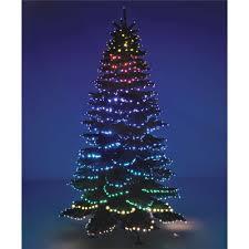 Fiber Optic Christmas Tree 7ft by The Cascading Color Light Show Tree Hammacher Schlemmer
