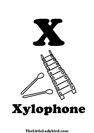 Letter X Xylophone Coloring Page