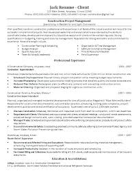 Construction Resume Examples Project Executive Charming Company Template On
