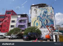 Famous Spanish Mural Artists by Bangkok Thailand January 31 2016 Aryz Stock Photo 370402661