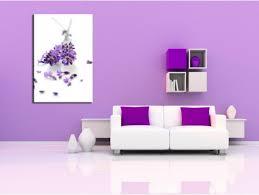 cadre design pas cher tableau lavande fleurs design pas cher décoration murale salon