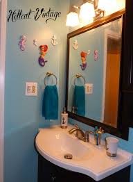 Little Mermaid Bath Decor by Mermaid Themed Bathroom Decor Decorating Clear