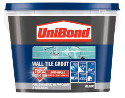 Blue Hawk Premixed Vinyl Tile Grout Directions by Unibond Black Ready Mixed Grout W 1 38kg Departments Diy At B U0026q