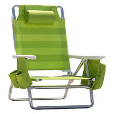 nautica beach chair 5position recliner picnic summer outing fabric