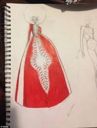 Design Prowess Kyemahs Skillful And Original Sketches Were Turned Into The Stunning Gown That She