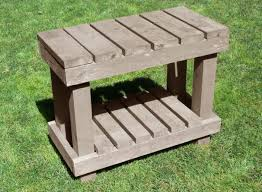 Free Wood Outdoor Furniture Plans by 45 Diy Potting Bench Plans That Will Make Planting Easier Free